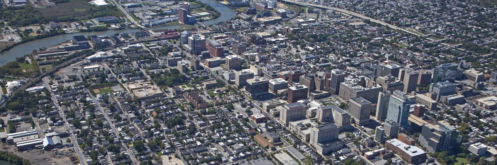 Aerial view of the City of Wilmington