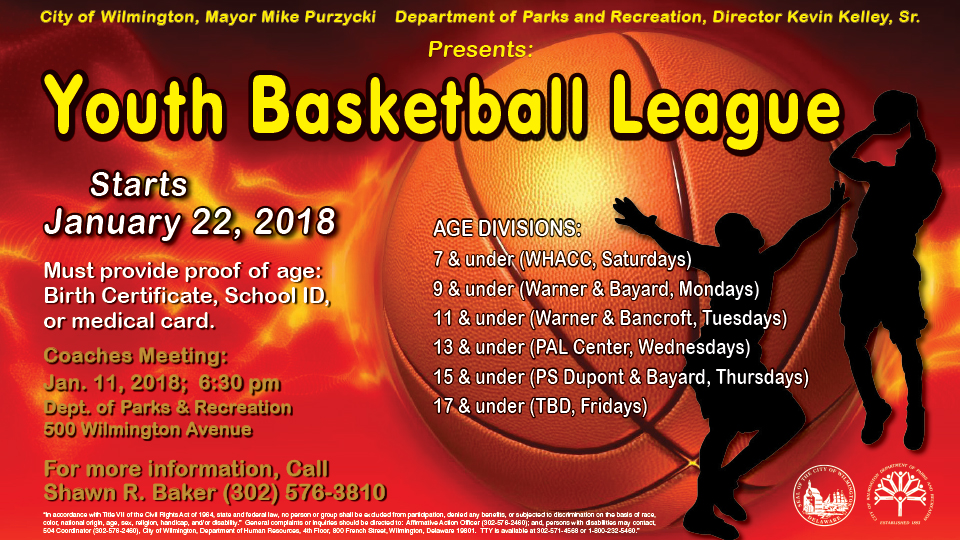 Sign up for the Youth Basketball League