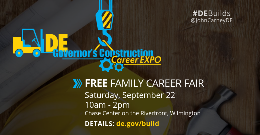 Ad for free family career fair, Saturday, September 22, Chase Center on the Riverfront.