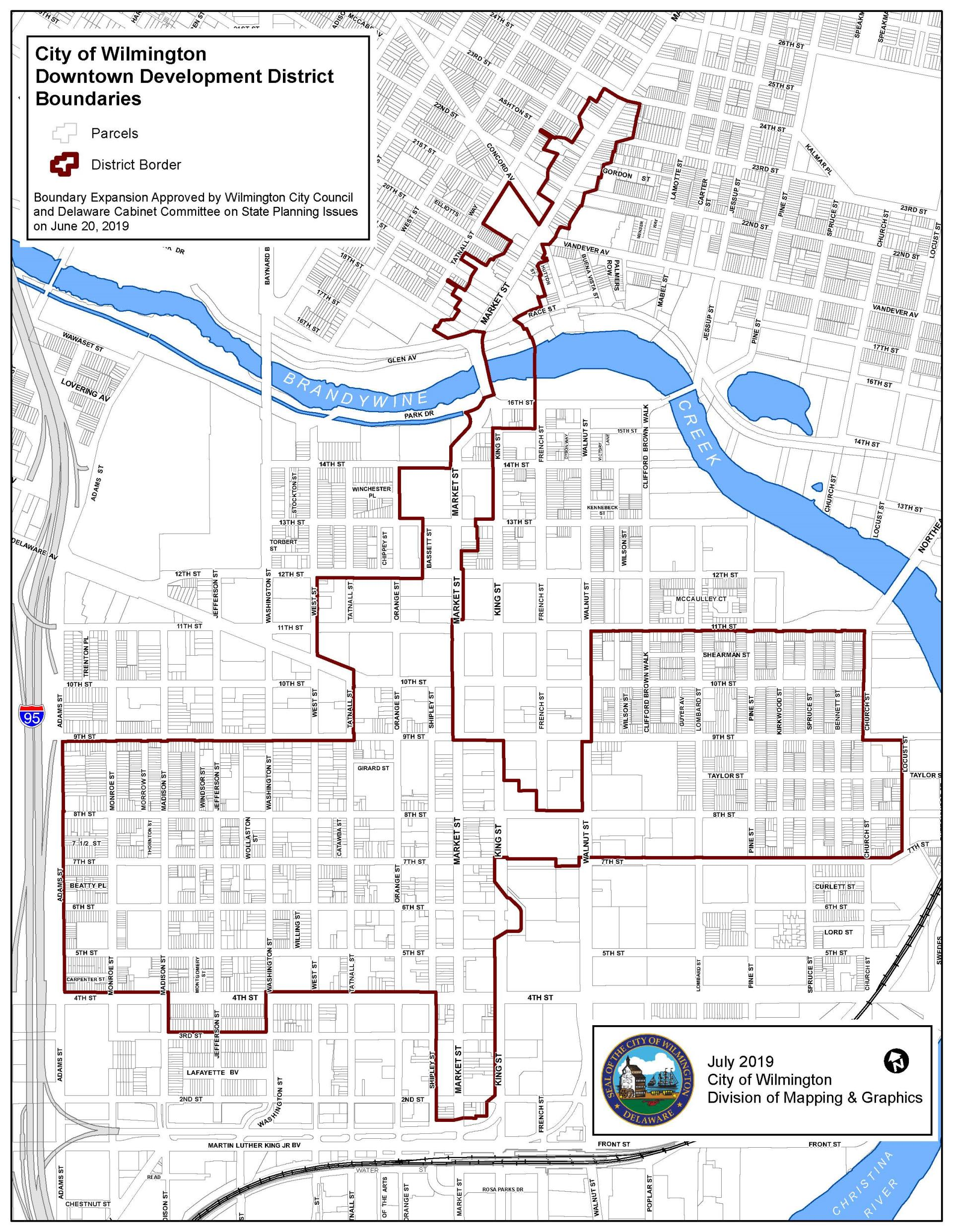 Downtown Development District Map