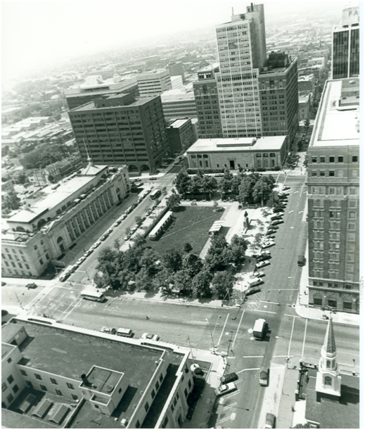 Aerial view of Rodney Square