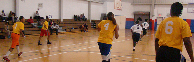 Join one of the Department of Parks and Recreation basketball teams.