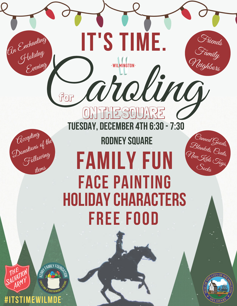 It's time for Caroling on the Square, Tuesday, December 4 at 6:30 p.m.