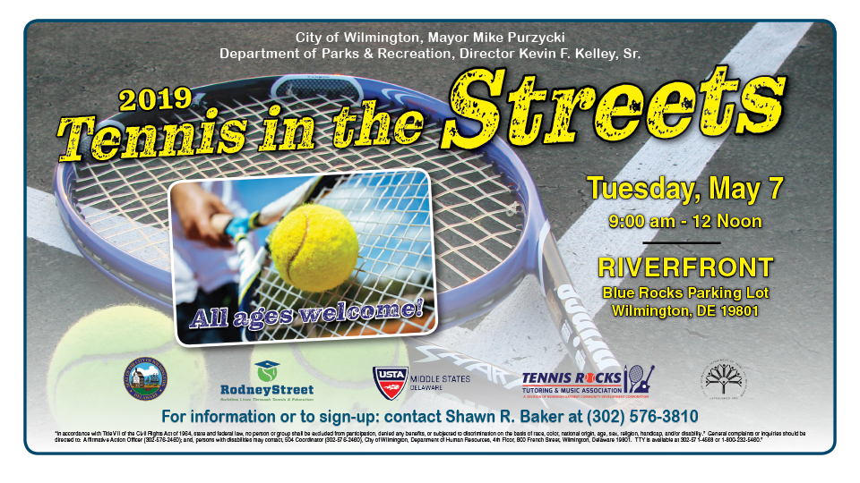 All ages are welcome to participate in the 2019 Tennis in the Streets on May 7.