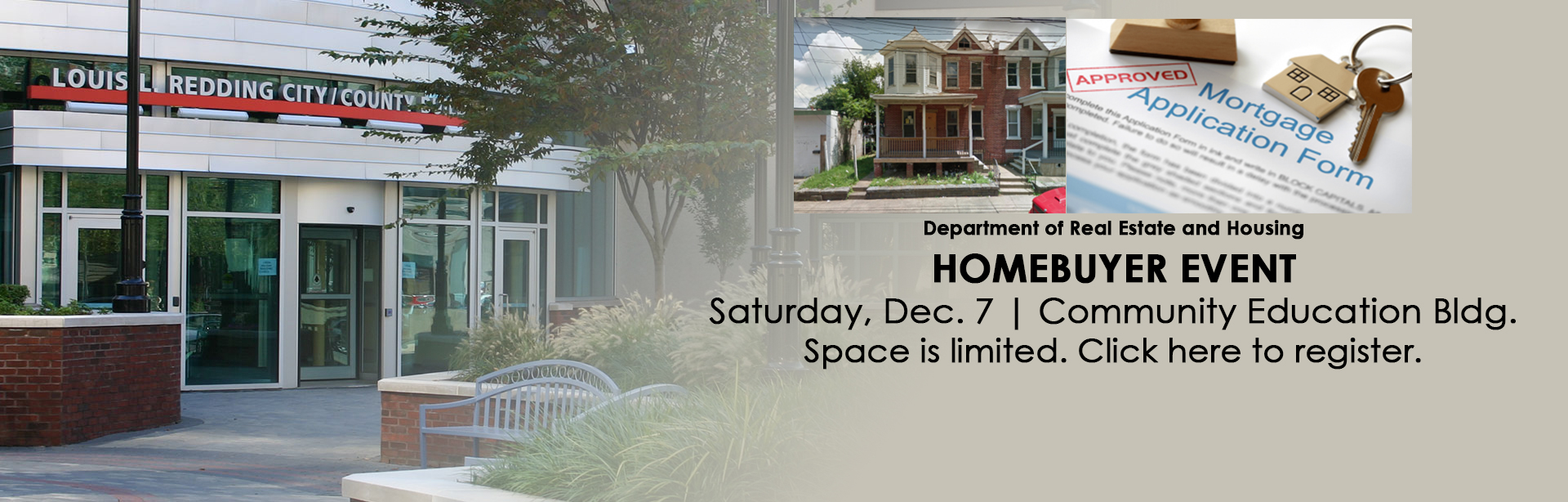 Register for the Homebuyer Event on Saturday, August 24.