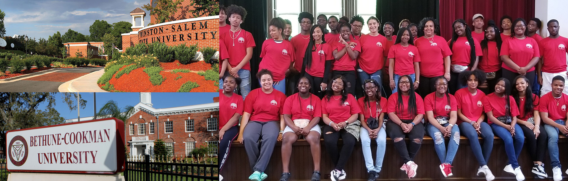 Photo of students attending the City of Wilmington College Tour.