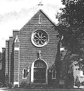 Archival photo of St. Joseph's Roman Catholic Church