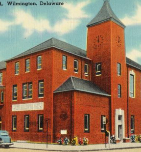 Archival photo of the Walnut Street YMCA