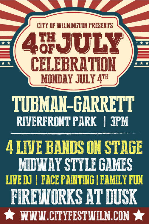 4th of July Celebration on the Riverfront poster